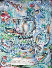 Bunt, Blau, Geometrie, Malerei
