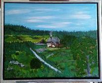 Acrylmalerei, Natur, Landschaft, Schwarzwald