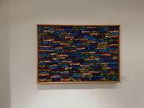 Collage, Mischtechnik, Acrylmalerei, Modern art
