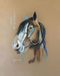 Pferdeliebe, Malerei, Caballo, Carriagehorse