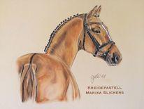 Pferde, Portrait, Chalkpastel, Pastellmalerei