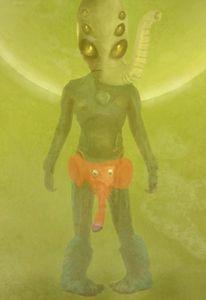 Alien, Elefant, Außerirdisch, Nativ