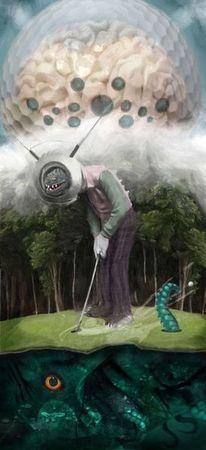 Reptiloid, Raumschiff, Golf, Ufo
