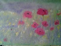 Natur, Blumen, Mohn, Lavendel