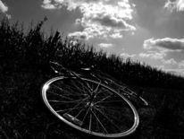 Feld, Wolken, Fahrrad, Natur