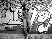 Menschen, Graffiti, Fotografie