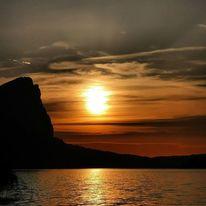 See, Sonnenuntergang, Natur, Fotografie