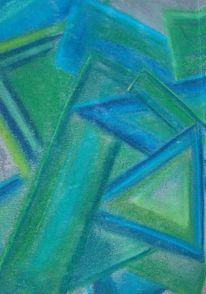 Abstrakte formen, Zeichnungen, Formen, Grün