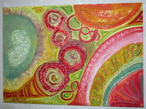 Acrylmalerei, Strukturpaste, Unendlich zeichen, Malerei