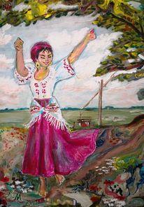 Farben, Pouring, Tanz, Lebensfreude