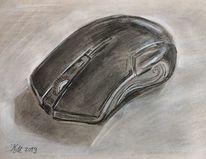 Bleistiftzeichnung, Buntstifte, Kreide, Zeichnung