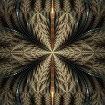 Fraktalkunst, Ornament, Kaleidoskop, Digitale kunst