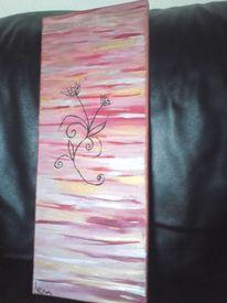 Blumen, Surreal, Rosa, Malerei