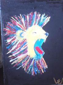Tiere, Löwe, Bunt, Malerei