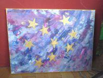 Surreal, Stern, Himmel, Malerei