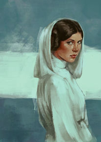 Princess leia, Star wars, Portrait, Digitale kunst