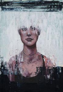 Ölmalerei, Frau, Kontrast, Portrait