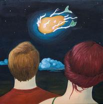 Kartoffeln, Komet, Schweifstern, Nacht