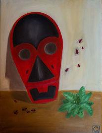 Maske, Feuerwanze, Stamm, Insekten