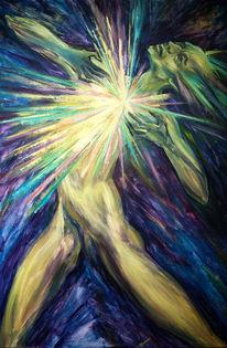 Malerei, Mystik, Surreal, Blau