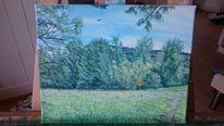 Landschaft, Weg, Farben, Malerei