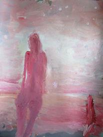 Frau, Stern, Rose stimmung, Malerei