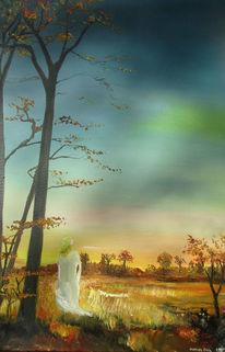 Fee, Baum, Herbst, Malerei