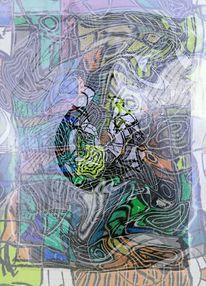 Malerei, Abstrakt, Acrylmalerei, Digitale kunst