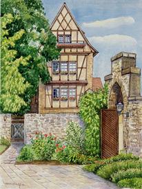 Erfurt, Augustinerkloster, Aquarellmalerei, Aquarell