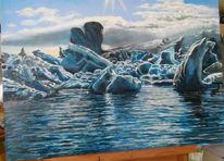 Eisberg, Himmel, Meer, Eismeer