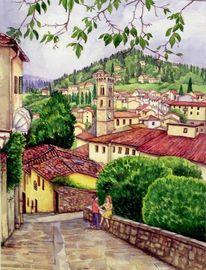 Italien, Aquarellmalerei, Toskana, Aquarell