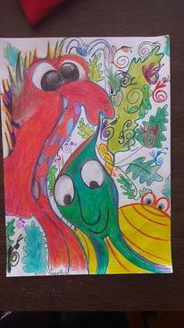 Grün, Gelb, Rot, Malerei