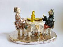 Tischszene, Figural, Abendessen, Objekt aus papier