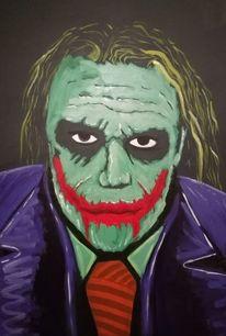 Spontan, Joker, Dunkel, Malerei
