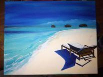 Blau, Beaxh, Sommer, Urlaub