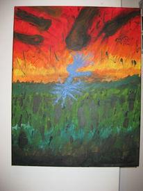 Komet, Zerstörung, 2012, Malerei
