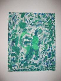 Grün, Tanz, Abstrakt, Malerei
