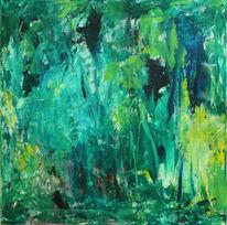 Wald, Spachteltechnik, Malerei, Abstrakt