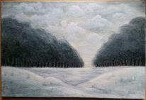 Schnee, Weiß, Baum, Grau