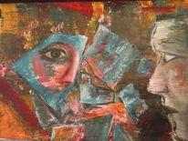 Gesicht, Frau, Profil, Abstrakt