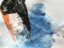 Menschen, Gesicht, Zeichnung, Kugelschreiber
