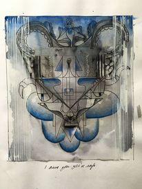 Zeichnung, Finqliner, Tod, Tiere