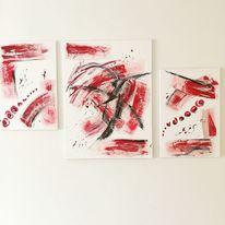 Mein erstes werk, Gips, Acrylmalerei, Rot