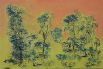 Acrylmalerei, Landschaft, Malerei, Morgenstimmung