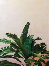 Palmen, Bananenbaum, Natur, Ölmalerei