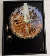 Malerei, Pusteblumen, Bunt, Natur