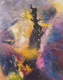 Abstrakt, Malerei, Mischtechnik, Genesis