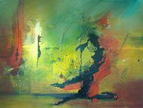 Abstrakt, Informell, Mischtechnik, Malerei