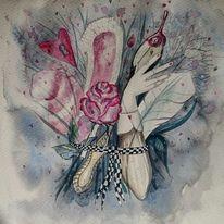 Aquarellmalerei, Blumen, Malerei, Hase