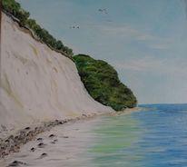Ostsee, Kreideküste, Rügen, Malerei